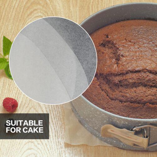 """Pack de 50 23 cm Antiadhésif ronde Sulfurisé Papier parchemin Cake Tin Liners 9/"""""""