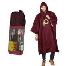 NFL Washington Redskins Reusable Rain Poncho Raincoat Adult Size