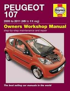 Haynes Owners Workshop Manual Peugeot 107 Petrol (05 - 11) SERVICE
