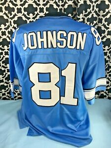 Details about Mitchell Ness Throwback NFL Detroit Lions #81 Calvin Johnson Jersey - Sz. 54 NWT