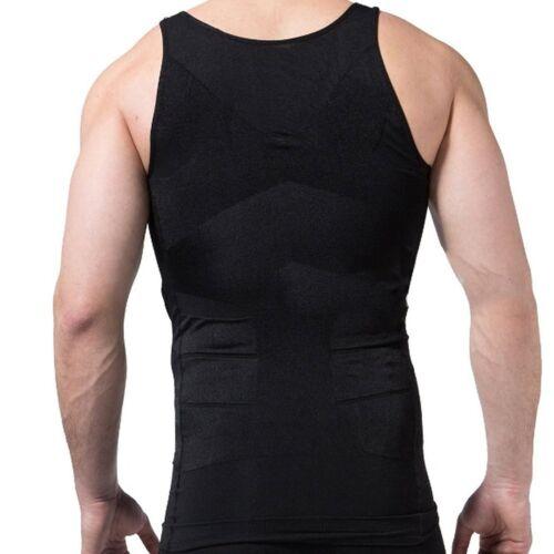 Men Slimming Body Shaper Waist Trainer Vest Gym Tops Belly Compression Shirt HAN