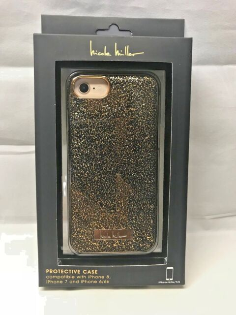sports shoes dbdba a3701 Nanette Lepore Glitter Case Compatible With iPhone 8 7 6/6s Black