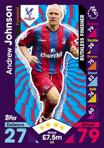 Match Attax 2016//17 tarjetas individuales leyenda S1-S16