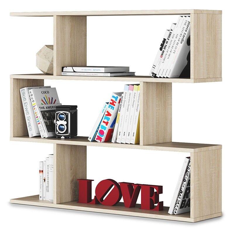 Estanteria libreria baja mueble para juvenil comedor ó dormitorio juvenil para Danery Roble e36ea2