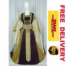 MEDIEVAL RENAISSANCE TUDOR WEDDING HANDFASTING LARP GOWN DRESS COSTUME (18I)