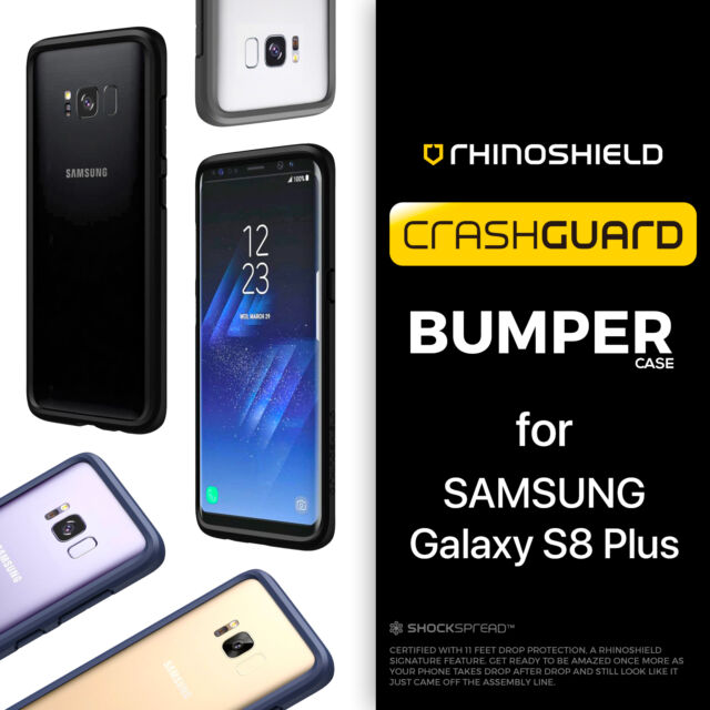 big sale 88257 8ee33 RhinoShield Samsung Galaxy S8 Plus + CrashGuard Bumper Case - Rhino Shield  Shock