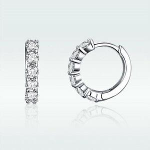 Authentic-925-Sterling-Silver-Shining-Time-CZ-Hoop-Earrings-For-Elegant-Women