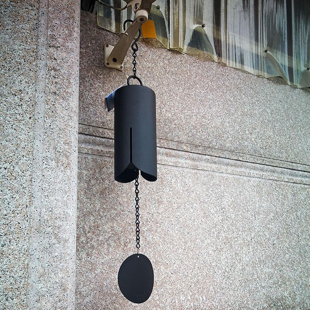 30  Cocheillón de viento metal grande Cilindro WINDBELL patio jardín al aire libre de decoración del hogar