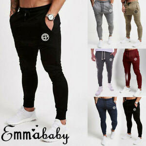 New-Mens-Slim-Fit-Tracksuit-Bottoms-Skinny-Jogging-Joggers-Sweat-Pants-Trousers