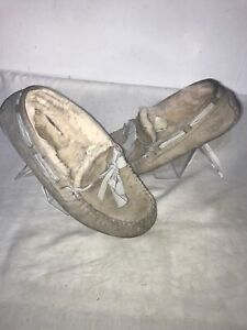 Ugg-Australia-Ladies-Moccasins-Grey-Slipper-Uk-4-4-5-Ref-Ba1