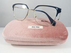 4187bd2f4db4 Miu Miu Women s Blue Glasses with case VMU 52O UE6-1O1 52mm ...