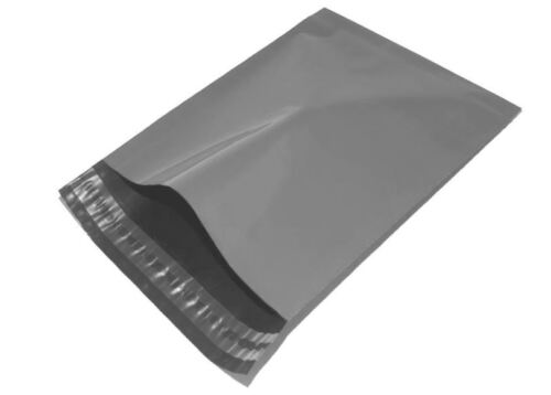 19 x 27 Grigio Blu Mailing Sacchi Buste di Plastica Self Seal POST GRANDE BORSA X 10