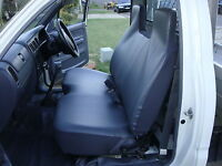 Black Fur Bench Seat Cover With Smallstick Cut Out Toyota Hilux 1997-2004