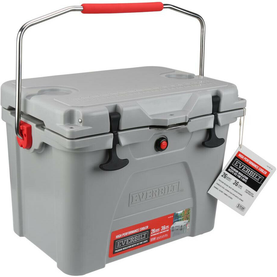 Everbilt Cooler verrouillable Couvercle Camping Outdoor Sports 26 qt Haute Performance