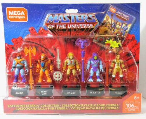 Masters Of The Universe 5 Pack Battle for Eternia Mega Construx Mattel He-Man