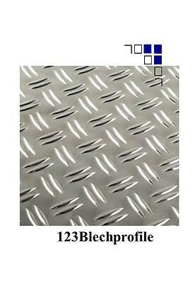 Aluminium Riffelblech 2,5//4 Tafeln 1000x2000mm 2