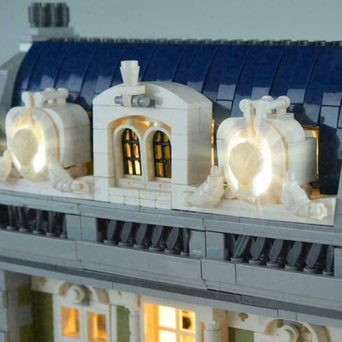LED Light Up Kit For LEGO 10243 Restaurant House Expert St City Durable set S5U6