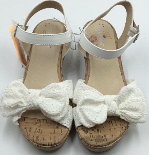Girls Angelene Wedge Sandals White Cat /& Jack Size 5