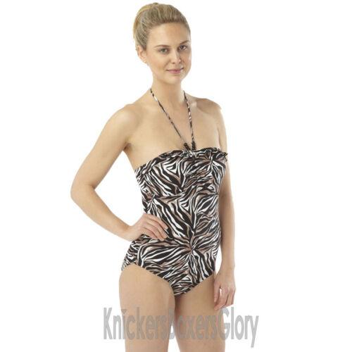 Costume da bagno // nuoto costume allacciato dietro il collo // BANDEAU SWIMWEAR taglia 10 16 NUOVI 14 12