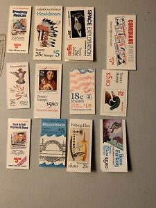Discount Postage Lot Face $63.40, 12 Assorted Booklets 18 To 29 Cent Stamps