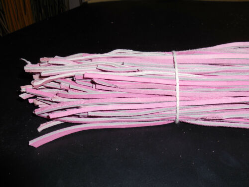 1 NEW BUNDLE of PINK COLORED RAWHIDE LEATHER SHOE//BOOT LACES.