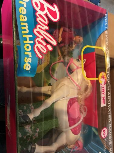 Barbie Dream Horse & Blonde Doll VoiceTouch Activated Interactive Set NEW