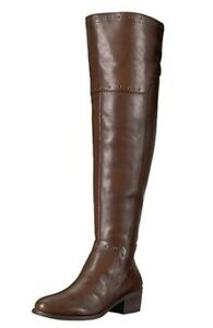 Vince-Camuto-Women-Over-the-Knee-Boots-Bestan-Size-US-6M-Brown-Leather