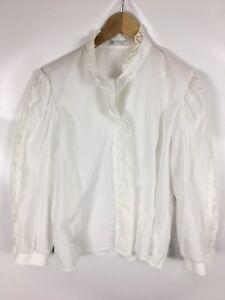 KARLSBADER-BLUSE-Trachten-Bluse-weiss-Groesse-40-Baumwolle