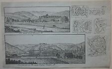1818 BESANCON Christian Friedrich Mylius litografia originale Besançon Citadelle