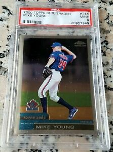 MIKE MICHAEL YOUNG 2000 Topps Chrome Traded Rookie Card RC PSA 9 MINT Rangers $$