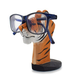 59a4c105e922f Handmade Wood Eyeglass Storage Holder 3D Tiger Glasses Display Stand ...