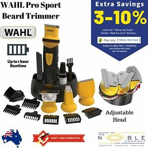 WAHL-CORDLESS-Pro-Beard-Trimmer-Body-Shaver-Mens-Groomer-Hair-Clipper-Electric