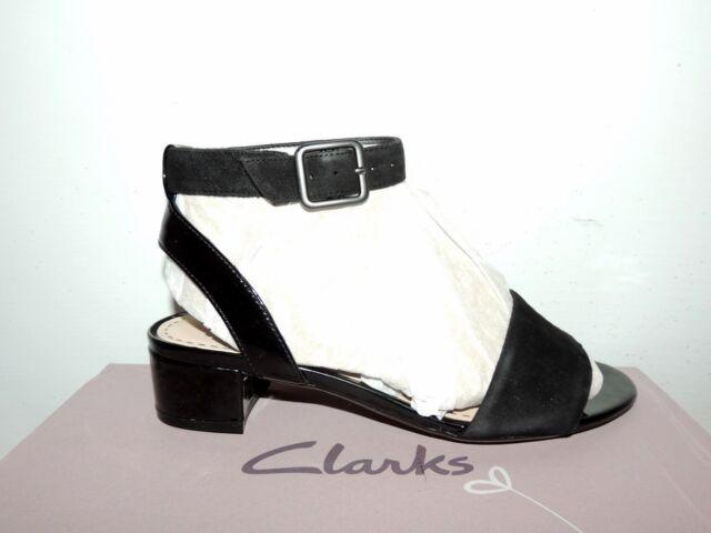 ba458692e0f Clarks Sharna Balcony Black Combi Suede Various Sizes 5 UK E   38 EU ...