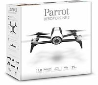 Parrot Bebop Drone 2 White Quadcopter Rc Vehicle W Hd Camera