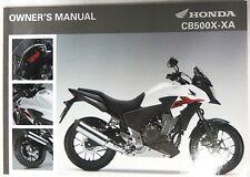 Manual de Usuario Owner's Manual Honda CB500X/XA 00X32-MGZ-C020