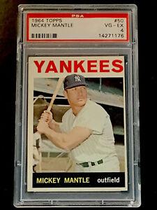 1964-Topps-50-Mickey-Mantle-HOF-PSA-4-VG-EX-New-York-Yankees-HOF