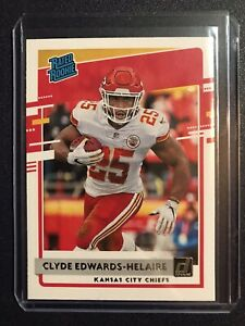 2020 Panini Donruss Clyde Edwards-Helaire Rated Rookie RC Chiefs