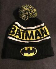 b9326c049fc9b DC Comics Batman Knit Winter Beanie Hat Cap With Pom Pom Black Yellow White