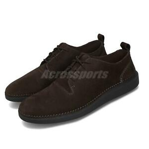 Clarks-Hale-Lace-Dark-Brown-Nubuck-Black-Men-Casual-Modern-Classic-Shoes