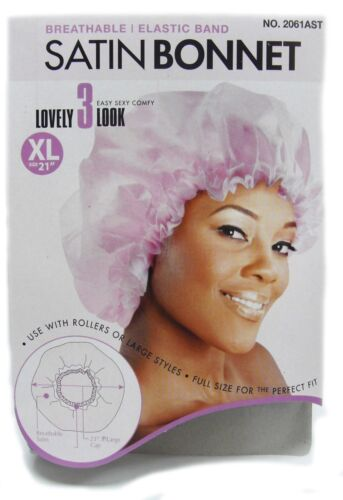 "Magic Collection Satin Bonnet With Elastic Band XL 21/"" ASSORTED Colors *2061AST*"