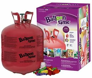 Image is loading Balloon-Time-Disposable-Helium-Tank-30-Balloons-included-