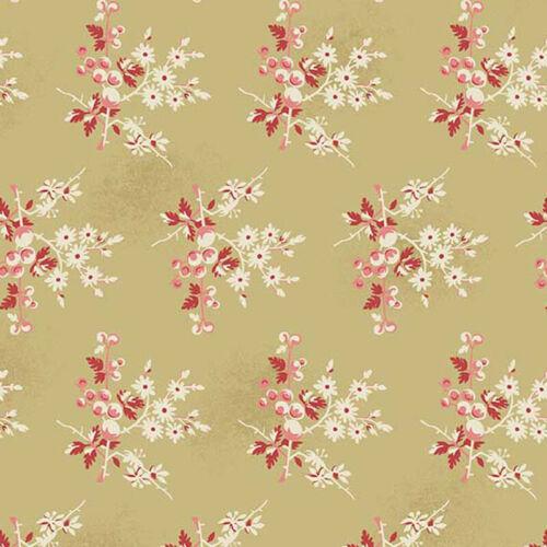 Per 1//4 Metre Makower Fabric Edyta Little Sweethearts Cream 2//8824L1