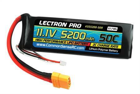 Común Sense Radio Control 3S5200-509 Lectron Pro 11.1v 5200mah 50c batería LiPo con Xt90