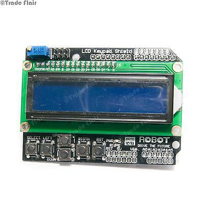 LCD Keypad Shield For Arduino - Blue 2x16 Display with 6 Push Buttons