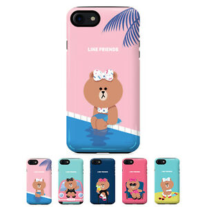 sports shoes a5135 7a3f2 Details about Gcase LINE Friends Choco Guardup Dual Bumper Case For Apple  iPhone 8 / 8Plus