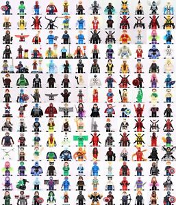 Brand-New-Mini-Figures-Superheroes-Superhero-fits-Lego-Custom-Mini-Figures