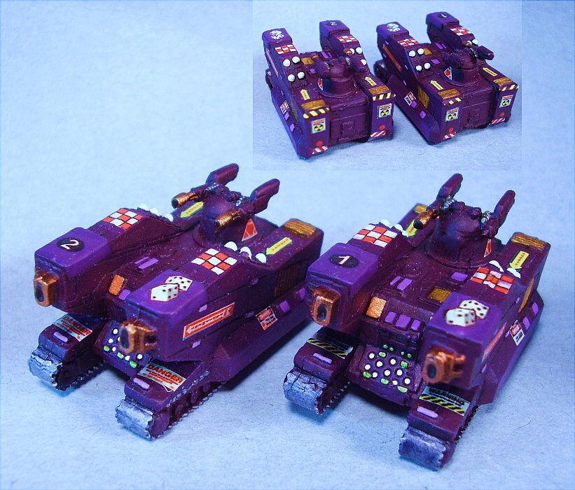 Battletech painted Athena tanks (2) Unique scheme