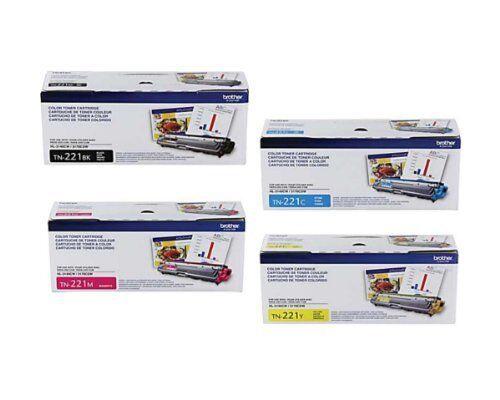 TN-221M TN-221C Brother TN-221BK TN-221Y Toner Cartridge Set Original