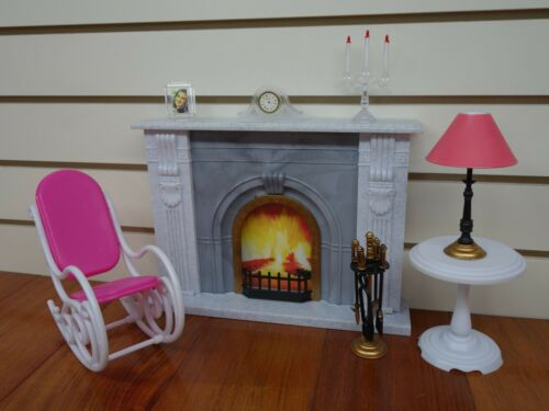 96006 Gloria,Barbie Size Doll House Furniture// Fire Place Play Set
