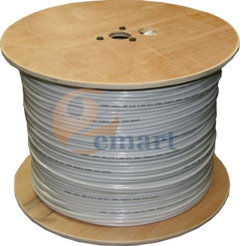 1roll RG59 Siamese CCTV Cable Video /& Power  1000FT Outdoor//Indoor
